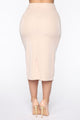 Suited And Boot It Midi Skirt - Beige