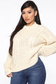 The Coziest Cable Knit Sweater - Cream