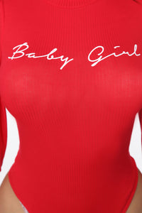 Your Forever Babe Bodysuit - Red