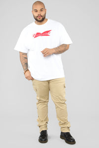 Wise Short Sleeve Tee - White/Combo
