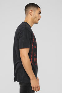Who Knows Short Sleeve Tee - Black/Red