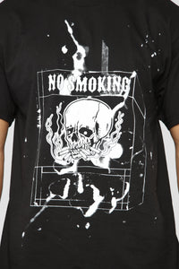 No Smoking Short Sleeve Tee - Black/White Angle 3