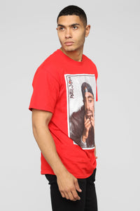 PJ Thoughts Short Sleeve Tee - Red/Combo Angle 5