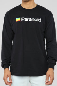 Paranoid Long Sleeve Tee - Black/combo