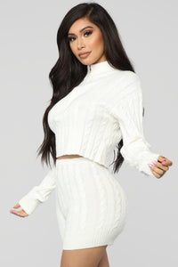 Spring Street Sweater Set - White Angle 1
