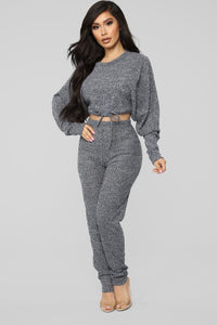 Morning Cuddles Lounge Set - Denim