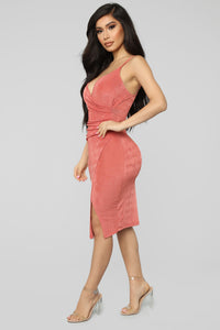 High Points Asymmetrical Dress - Marsala