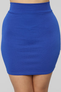 Melanie Ponte Mini Skirt - Royal