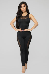 Had You On My Mind Jumpsuit - Black/Black