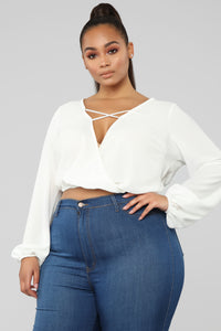 Strappy Intentions Top - Ivory Angle 6