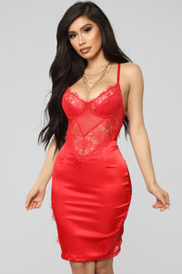 Feeling Out The Night Dress - Red