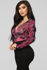 There's A Reason Bodysuit - Pink/combo