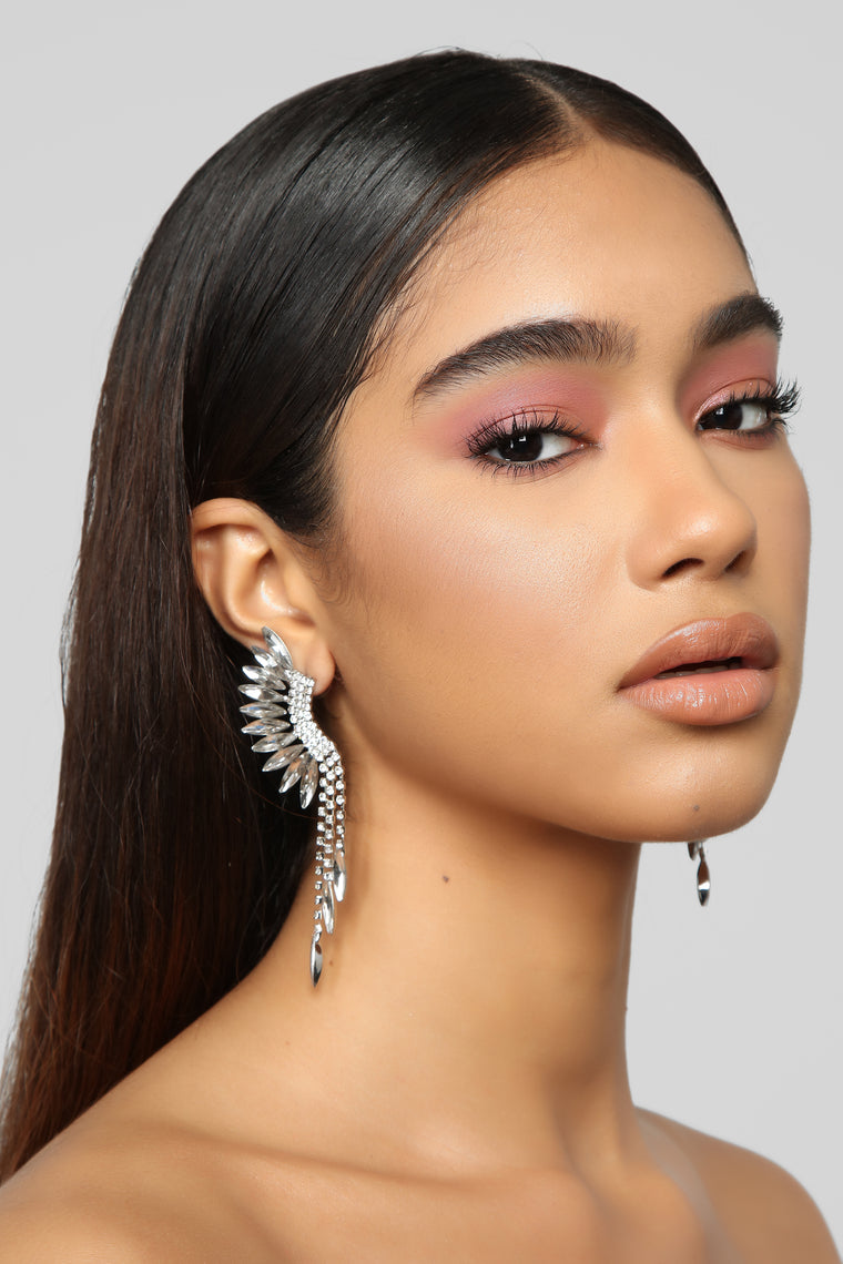 Keepin' It Fly Earrings - Silver