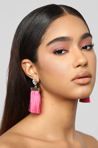 Dust You Off Earrings - Hot Pink
