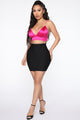 Leyla Bandage Mini Skirt - Black