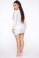 Best Behavior Mini Dress - White