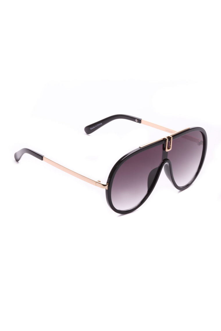 Cash The Check Sunglasses - Black/Black