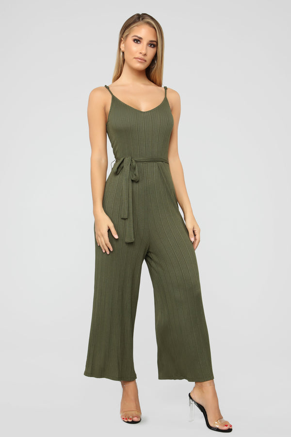 1bace9d5017 Amsterdam Ribbed Jumpsuit - Olive