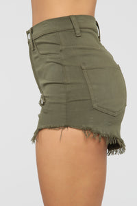 Make Me Beg Shorts - Olive