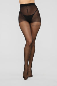 Draw The Line Tights - Black