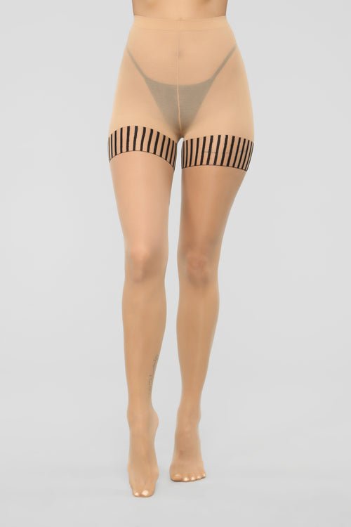 Tie My Bow Tights - Nude