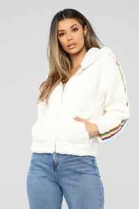Over The Rainbow Jacket - White Angle 1