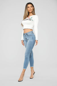 Land Of The Goddess Top - White