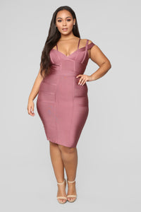 Lansa Bandage Dress - Dark Mauve Angle 5