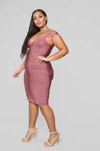 Lansa Bandage Dress - Dark Mauve Angle 8