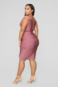 Lansa Bandage Dress - Dark Mauve Angle 6