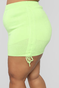 Something On The Side Sweater Set - Lime