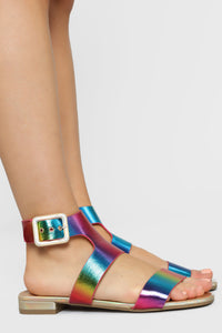 Quite The Reflection Flat Sandals - Rainbow Angle 3