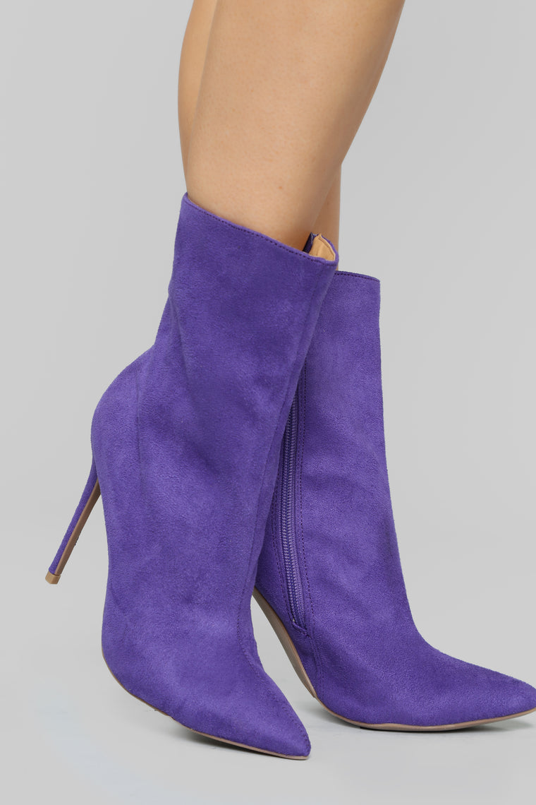 Hello There Booties - Violet