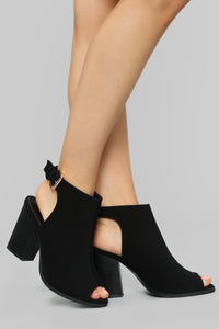 Bye See You Later Booties - Black