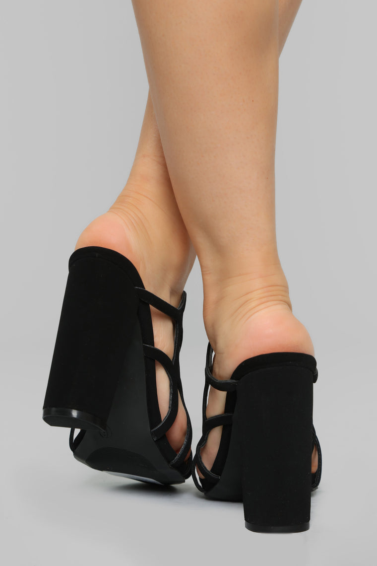 Brighten Up Heeled Sandals - Black