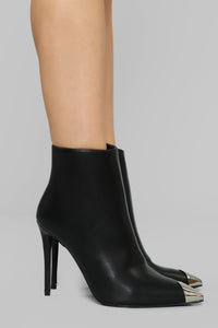 Stylishly Fierce Bootie - Black