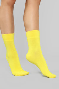 Hangin' With The Crew Socks - Yellow