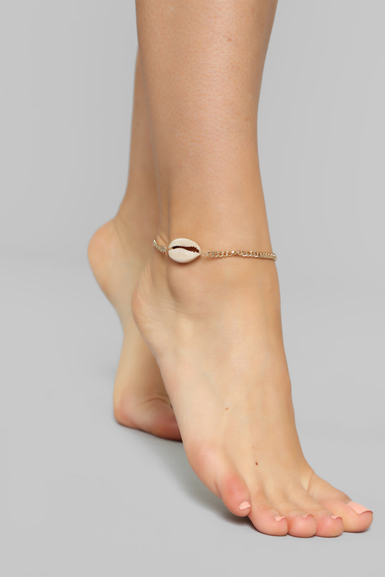 Toes In The Sand Anklet - Gold