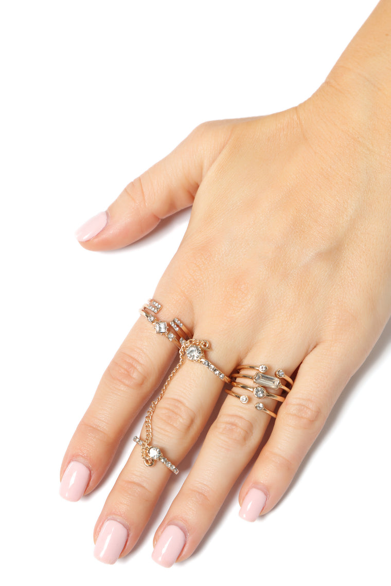Stack Them Up Ring Set - Gold