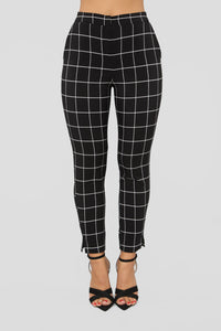 Along The Lines Pants - Black/White