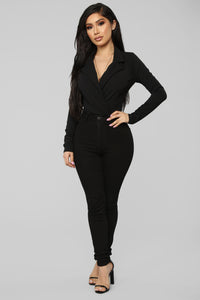It's Business Bodysuit - Black Angle 3