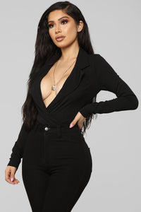 It's Business Bodysuit - Black Angle 1
