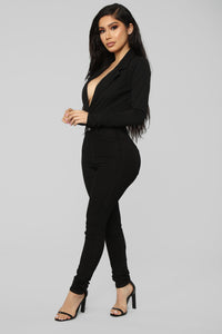 It's Business Bodysuit - Black Angle 5