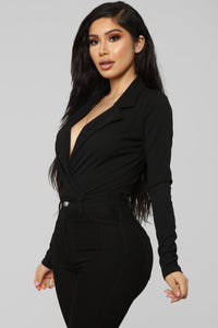 It's Business Bodysuit - Black Angle 4