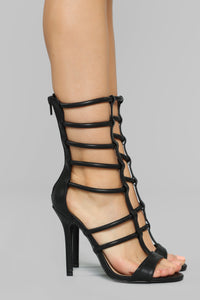 Tormented Heeled Sandals - Black