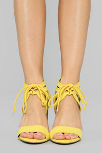 Different Love Heeled Sandals - Yellow Angle 2