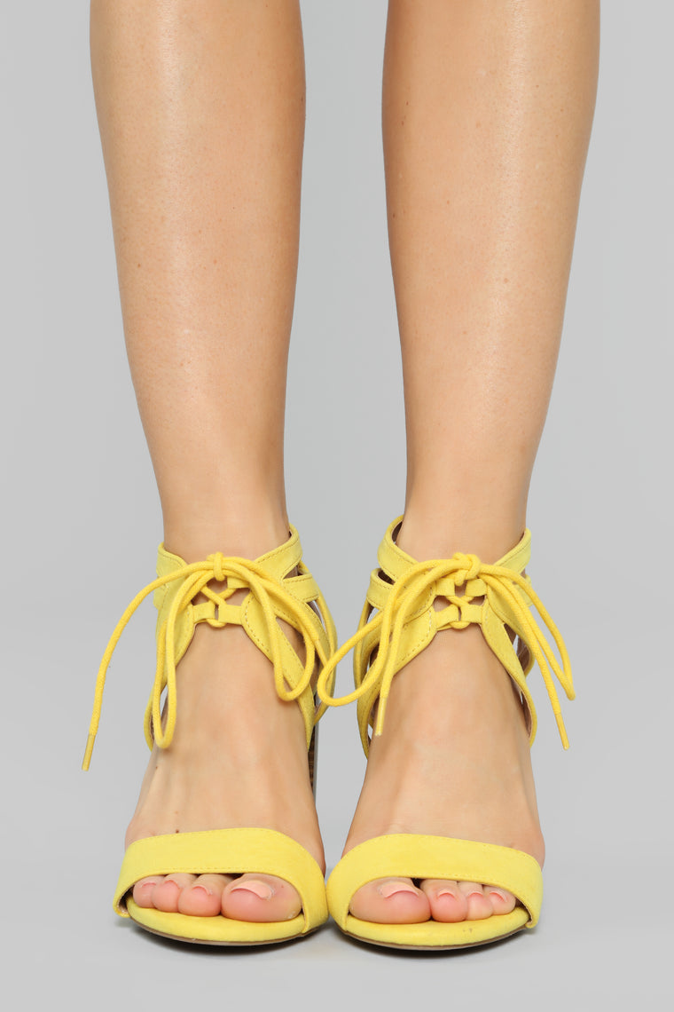 Different Love Heeled Sandals - Yellow
