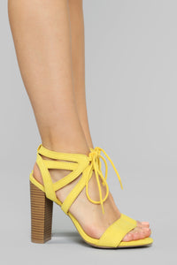 Different Love Heeled Sandals - Yellow Angle 3