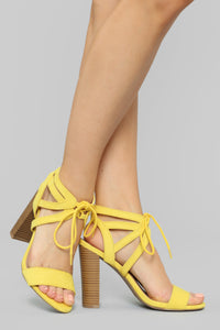 Different Love Heeled Sandals - Yellow Angle 1