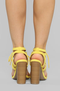 Different Love Heeled Sandals - Yellow Angle 4